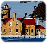 Lighthouse in Mackinaw City.